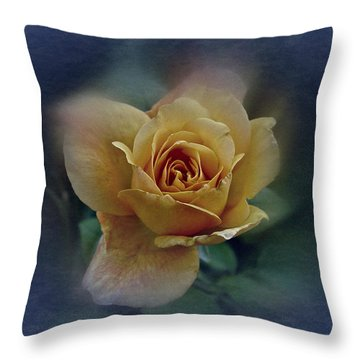 Throw Pillow featuring the photograph Mid September Rose by Richard Cummings