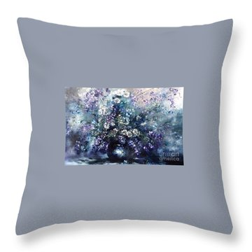 Mid Spring Blooms Throw Pillow