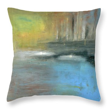 Throw Pillow featuring the painting Mid-summer Glow by Michal Mitak Mahgerefteh