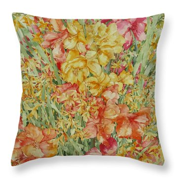 Summer Day Throw Pillow by Kim Tran