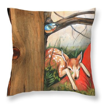 Mid-summers Day Dream 1st Panel Throw Pillow by Jacque Hudson
