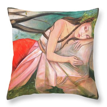 Mid-summers Day Dream 2nd Panel Throw Pillow by Jacque Hudson