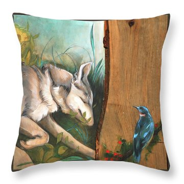 Mid-summers Day Dream 3rd Panel Throw Pillow by Jacque Hudson
