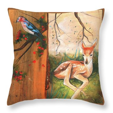 Mid-summers Day Dream 4th Panel Throw Pillow by Jacque Hudson