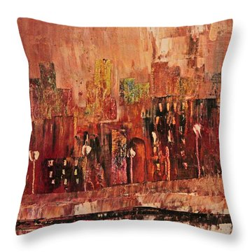 Mid Town Throw Pillow by John Stuart Webbstock