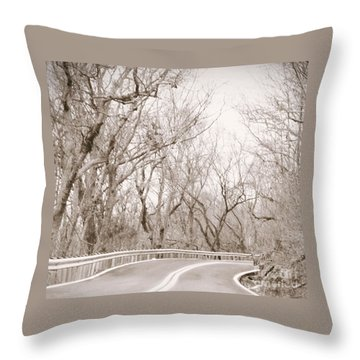 Mid Way II Throw Pillow