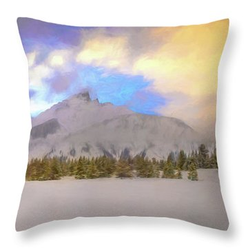 Mid-winter Sunset Throw Pillow