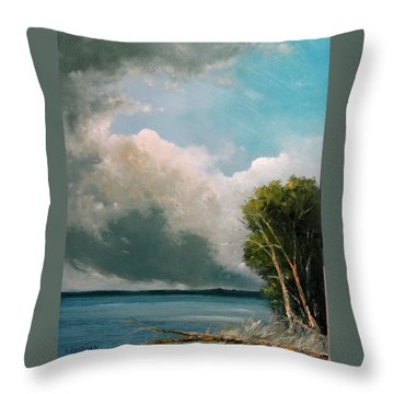 Midday Clouds Throw Pillow