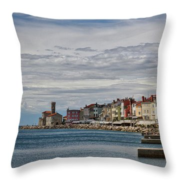 Throw Pillow featuring the photograph Midday In Piran - Slovenia by Stuart Litoff