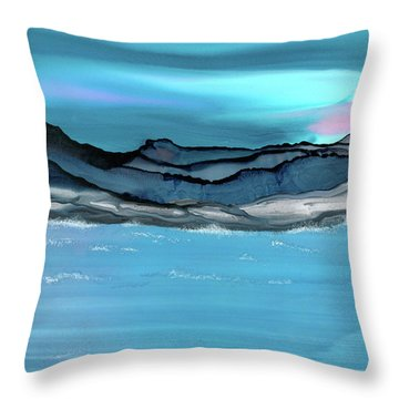 Midday Moon Throw Pillow