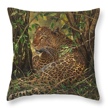 Midday Siesta Throw Pillow