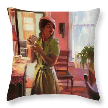 Midday Tea Throw Pillow