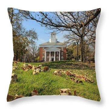 Throw Pillow featuring the photograph Middle College On An Autumn Day by Viviana  Nadowski