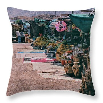 Throw Pillow featuring the photograph Middle-east Market by Charles McKelroy