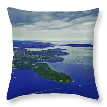 Middle Head And Sydney Harbour Throw Pillow