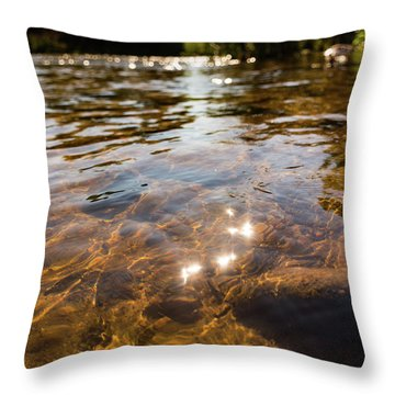 Middle Of The River Throw Pillow