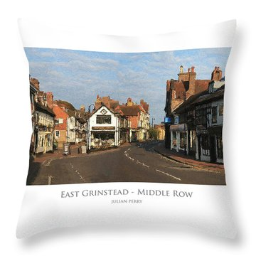 Throw Pillow featuring the digital art Middle Row East Grinstead by Julian Perry