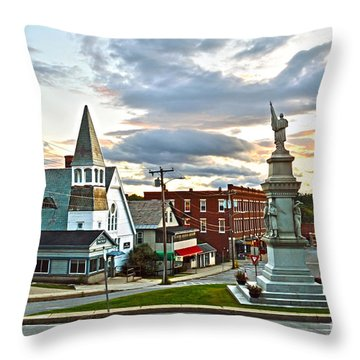 Middlebury Vermont At Sunset Throw Pillow