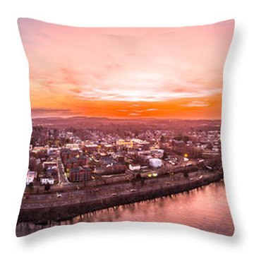 Throw Pillow featuring the photograph Middletown Connecticut Sunset by Petr Hejl
