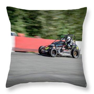 Midget Racing Throw Pillow