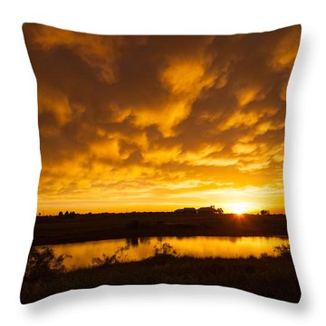 Midland Sunset Throw Pillow