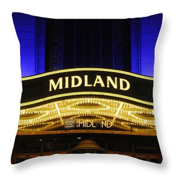 Midland Theater Throw Pillow