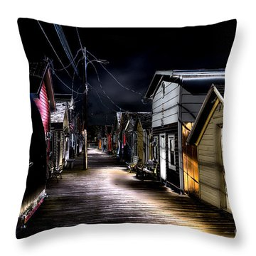 Midnight At The Boathouse Throw Pillow by William Norton