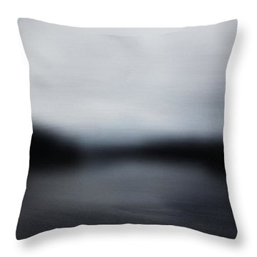 Midnight Blue- Abstract Art By Linda Woods Throw Pillow