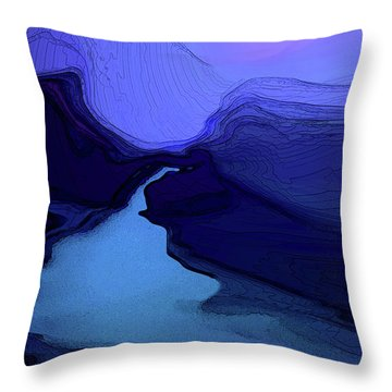 Throw Pillow featuring the digital art Midnight Blue by Gina Harrison