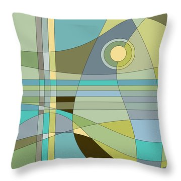 Midnight Breeze Throw Pillow by Val Arie