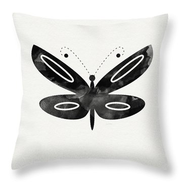 Midnight Butterfly 1- Art By Linda Woods Throw Pillow