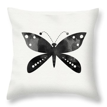 Midnight Butterfly 4- Art By Linda Woods Throw Pillow