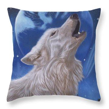 Midnight Caller Throw Pillow
