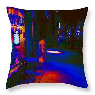 Midnight Coffee Dream Throw Pillow