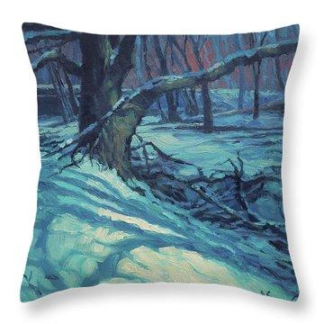 Midnight Coppei Throw Pillow