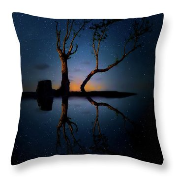 Throw Pillow featuring the photograph Midnight Dance Of The Trees by Mark Andrew Thomas