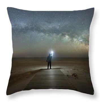 Throw Pillow featuring the photograph Midnight Explorer At Assateague Island by Michael Ver Sprill