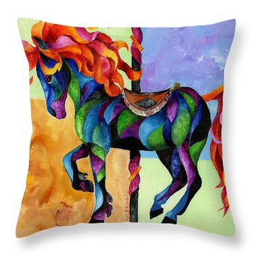 Midnight Fire Throw Pillow