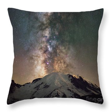 Throw Pillow featuring the photograph Midnight Hike  by Michael Ver Sprill