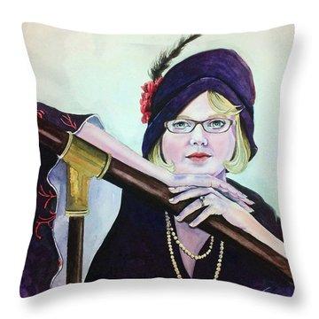 Midnight In Austin Throw Pillow