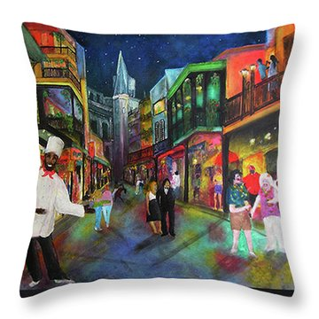 Midnight In New Orleans Throw Pillow