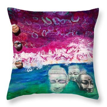 Midnight In The Garden Throw Pillow