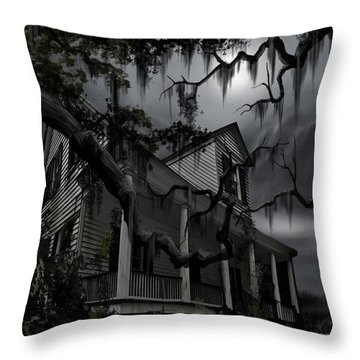 Midnight In The House Throw Pillow