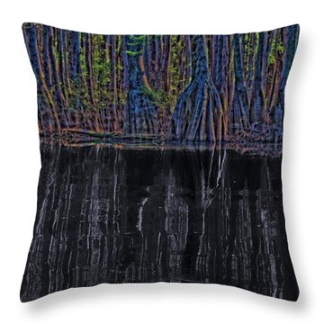 Midnight In The Land Of Hobbits And Faeries Throw Pillow