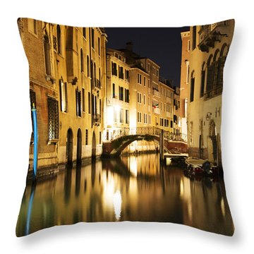 Midnight In Venice Throw Pillow