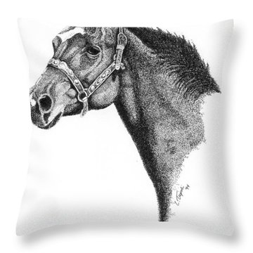 Midnight Throw Pillow by Lawrence Tripoli