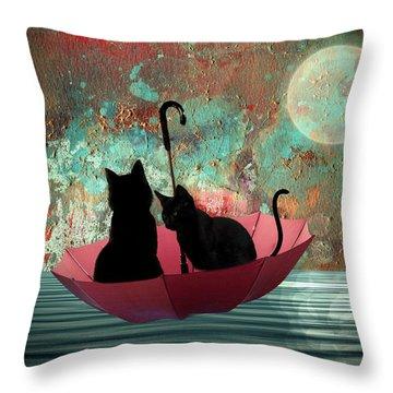 Midnight Love 2 Throw Pillow