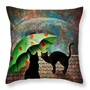 Midnight Love 3 Throw Pillow