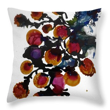 Midnight Magiic Bloom-1 Throw Pillow by Alika Kumar