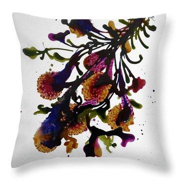 Midnight Magic-2 Throw Pillow by Alika Kumar